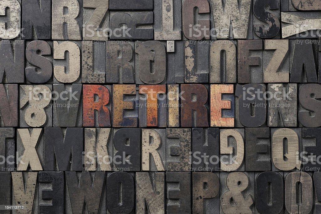 Retire royalty-free stock photo