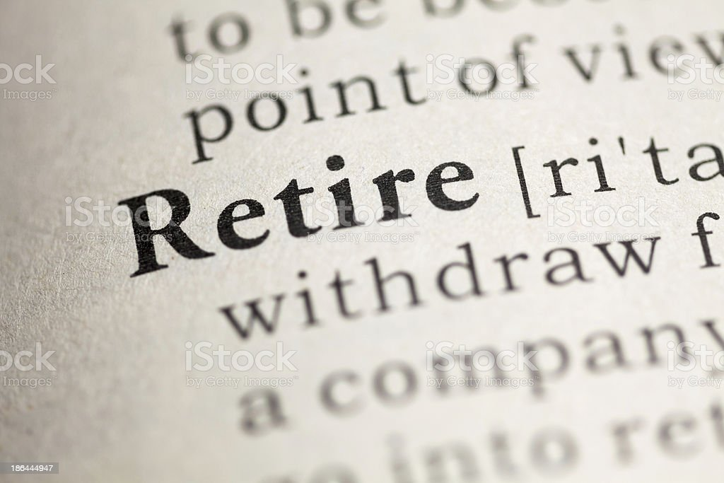 Retire royalty-free stock photo