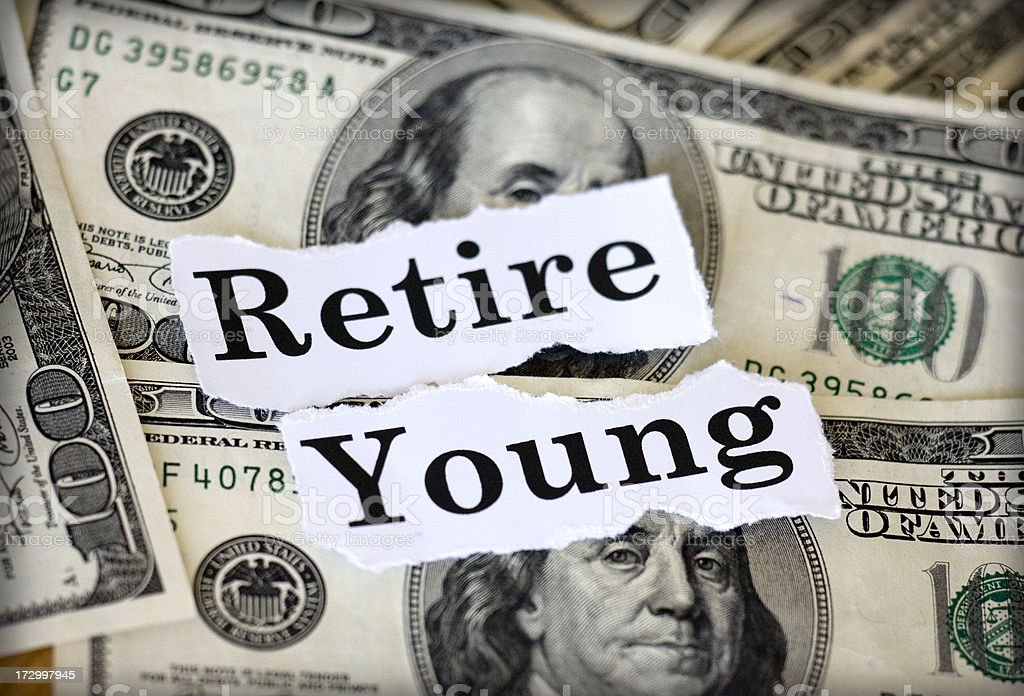 retire young royalty-free stock photo