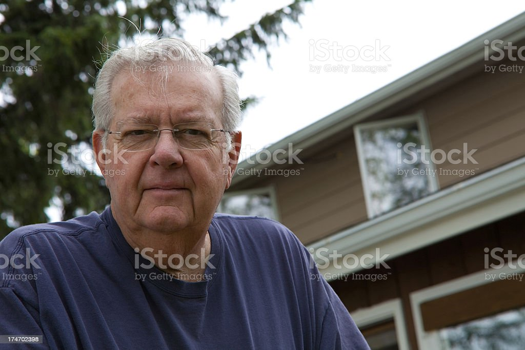 Retired Architect stock photo