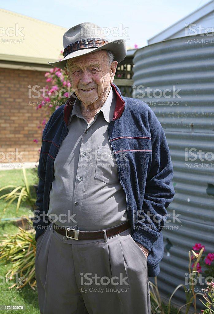 Retired Australian farmer stock photo