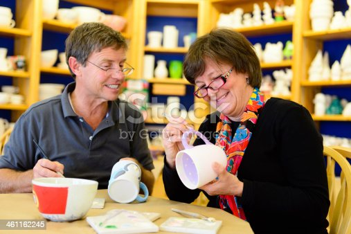 istock Retired Couple Taking Up Pottery 461162245