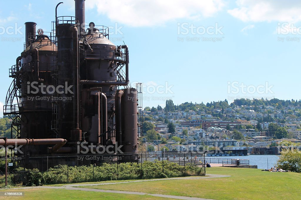 Retired Gas Tower stock photo