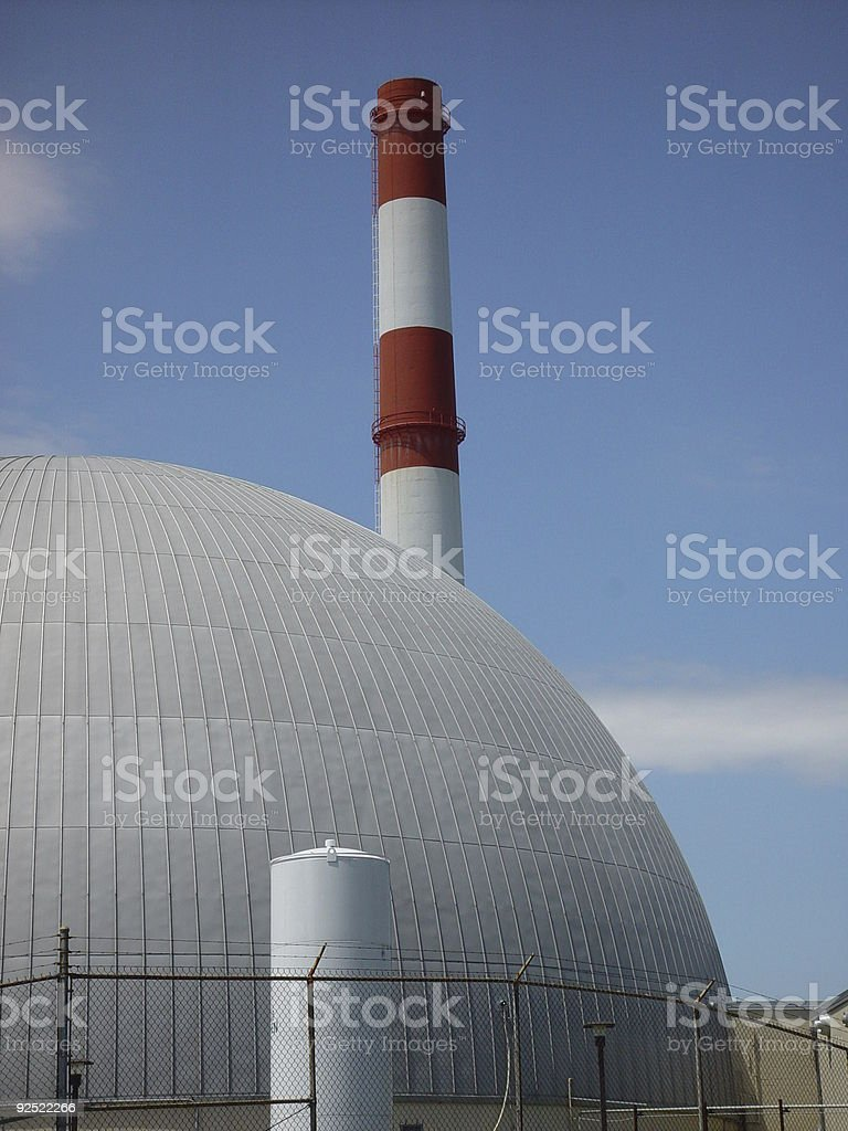 Retired Research Reactor stock photo
