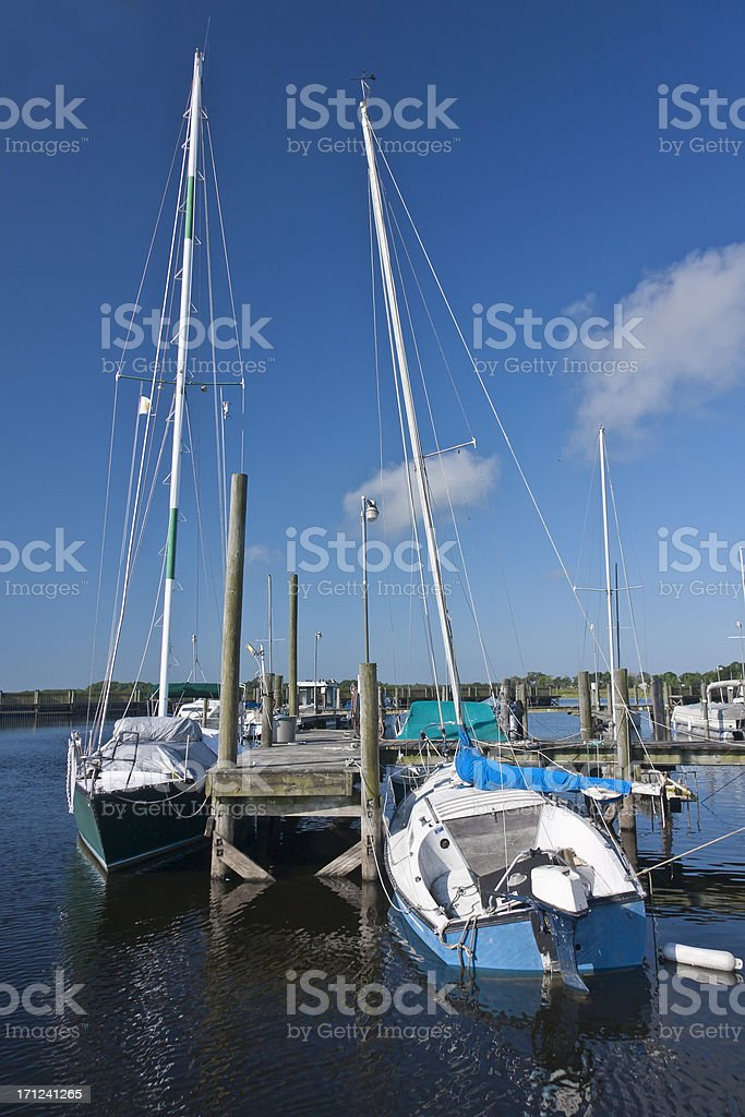 Retired Sail Boats - A Dream Long Past stock photo
