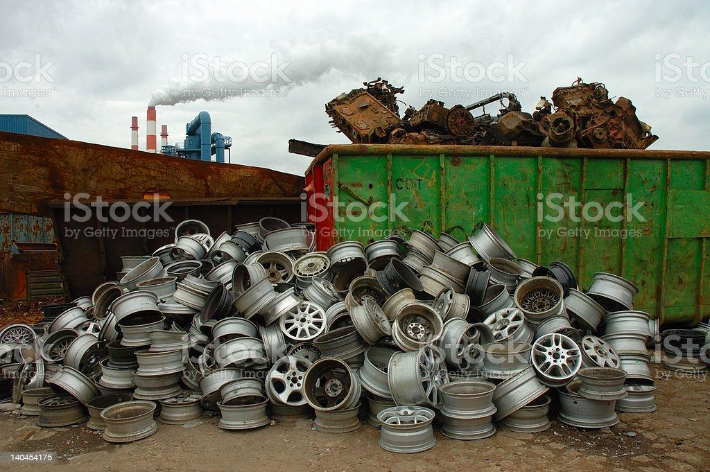 retired wheels royalty-free stock photo