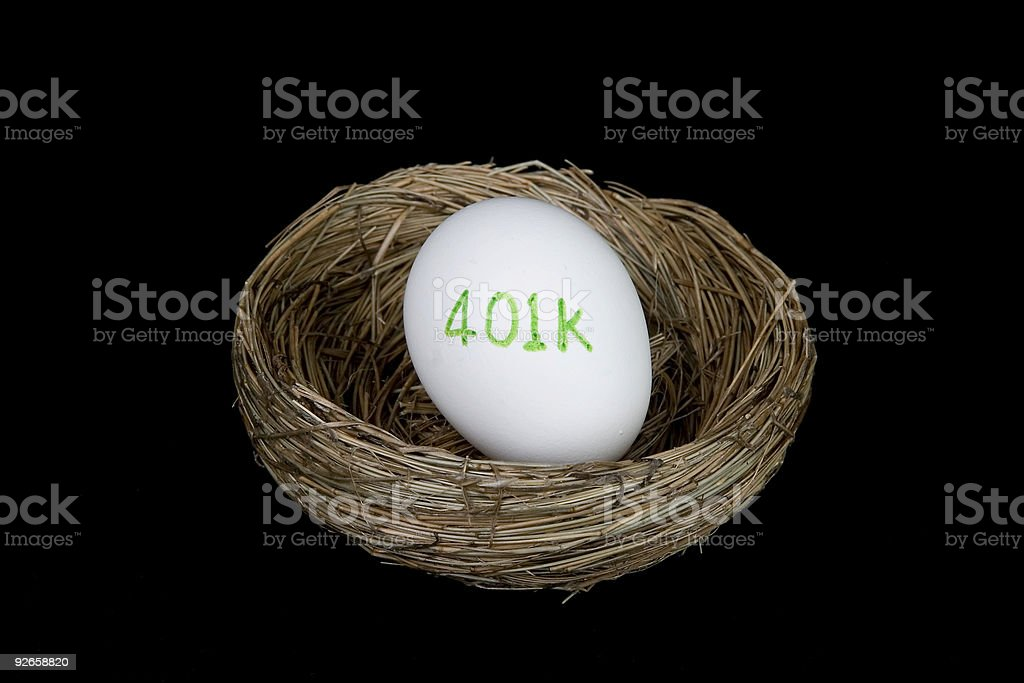 retirement 401k nest egg royalty-free stock photo