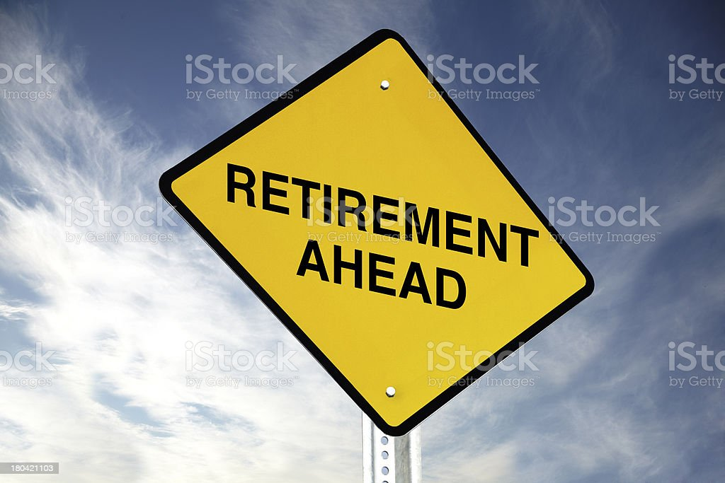 Retirement ahead royalty-free stock photo