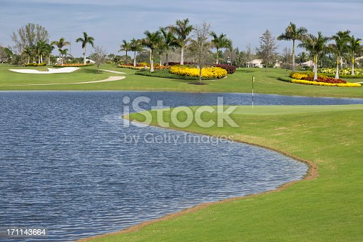 Golf Course in a South Florida Retirement Community ...