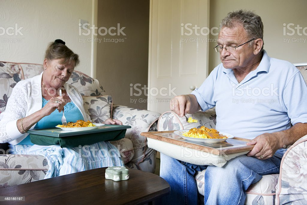 retirement: eating in royalty-free stock photo