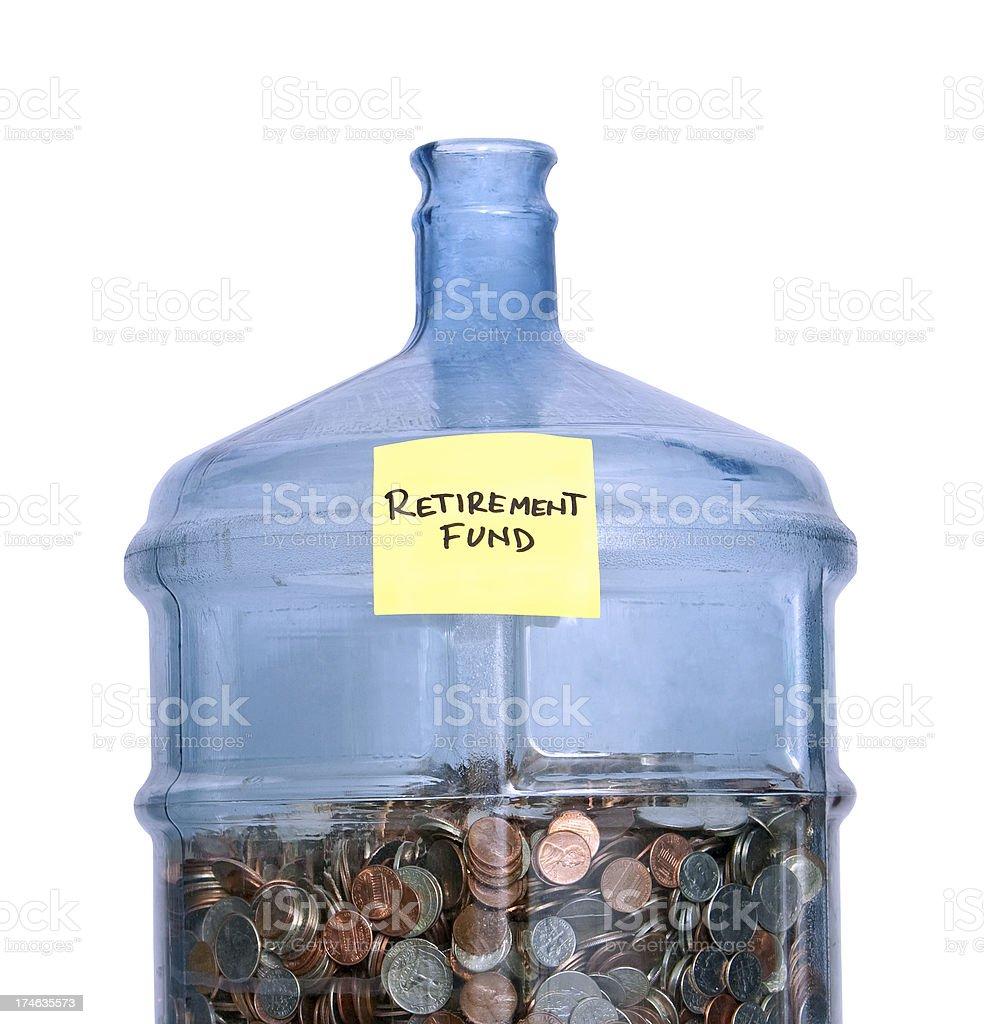 retirement fund closer stock photo