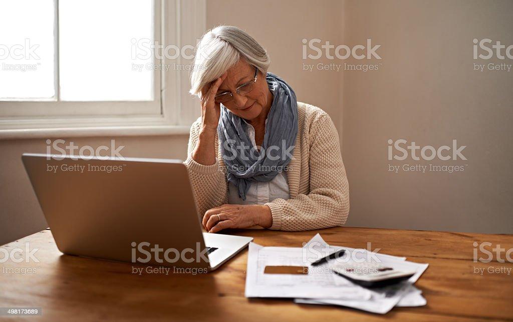Retirement fund worries stock photo