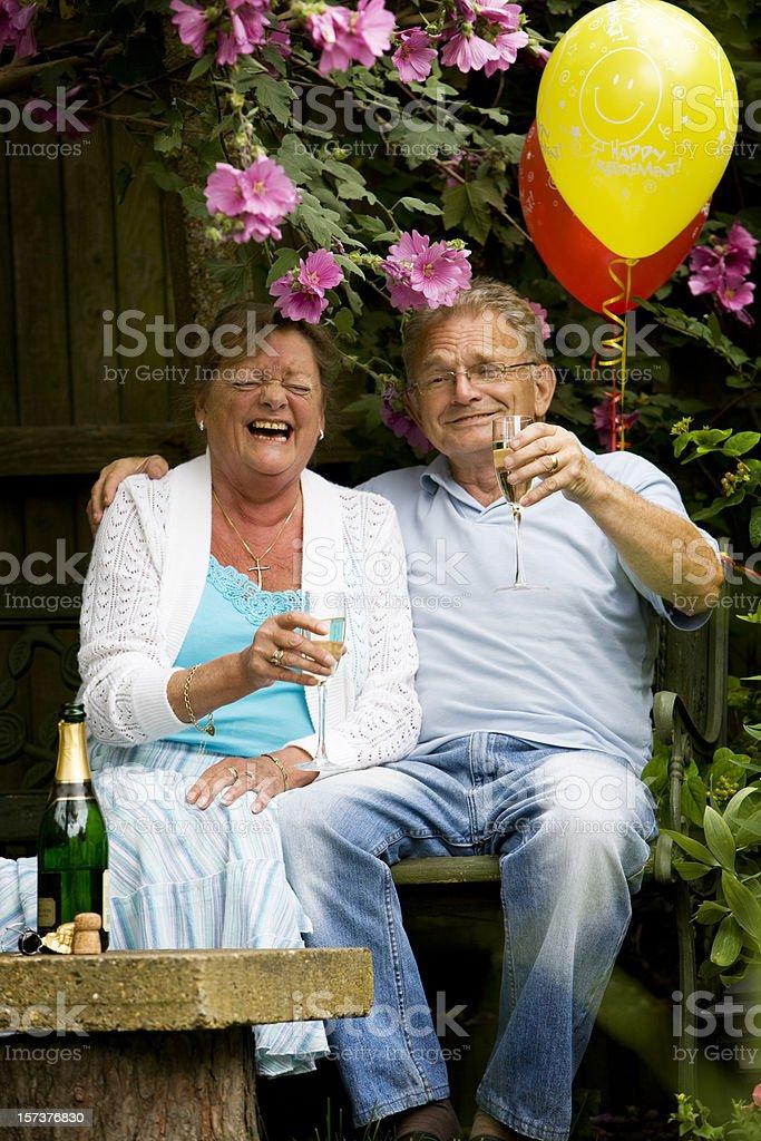 retirement: garden party royalty-free stock photo