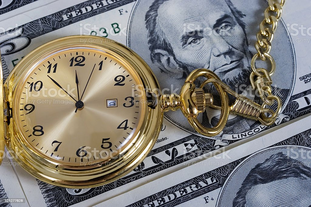 Retirement gold watch royalty-free stock photo