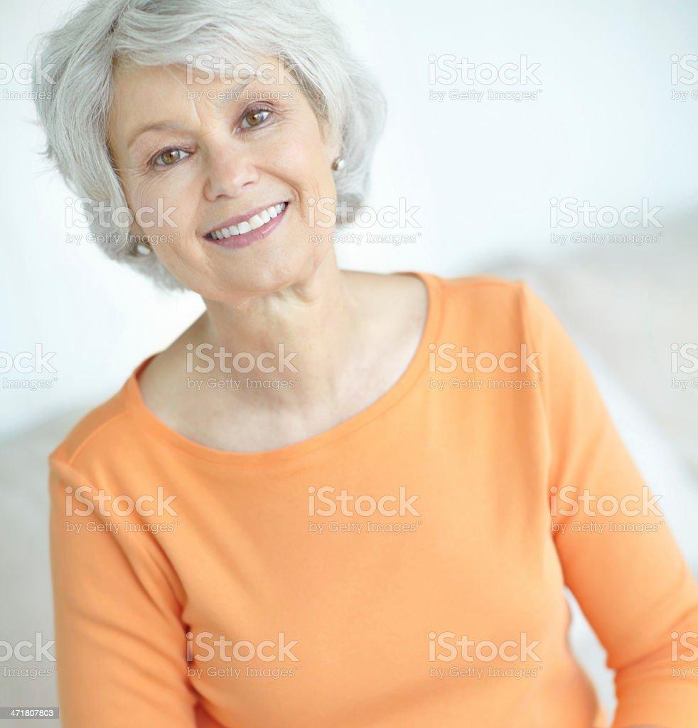 Retirement has been good to her! stock photo