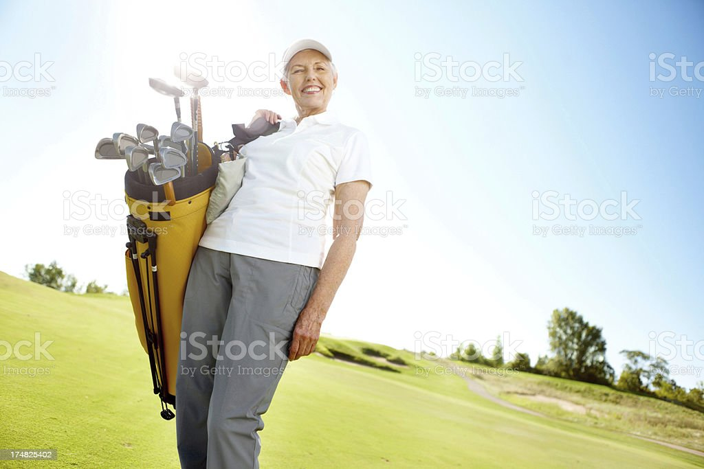Retirement has it's advantages! The course is free! royalty-free stock photo