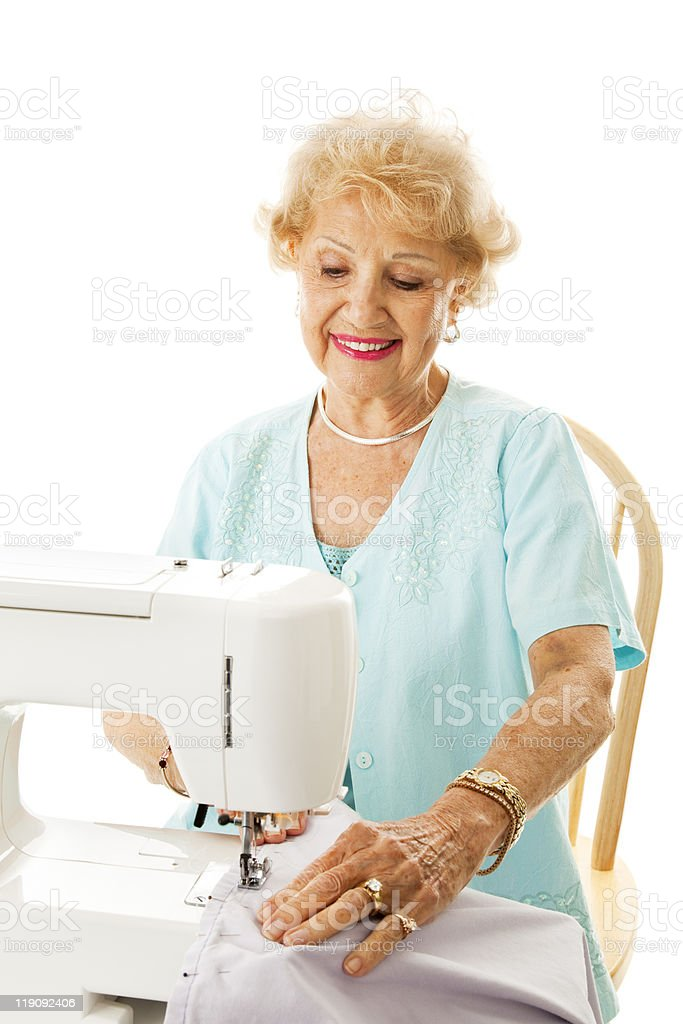Retirement Hobby - Sewing royalty-free stock photo
