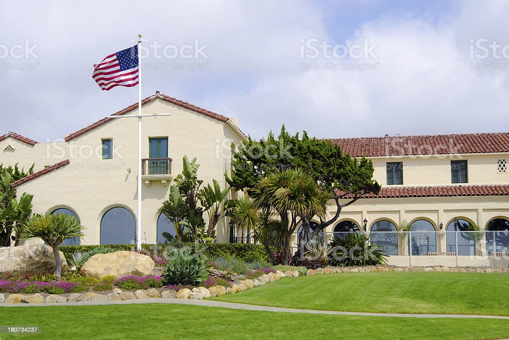 Retirement home in La Jolla royalty-free stock photo