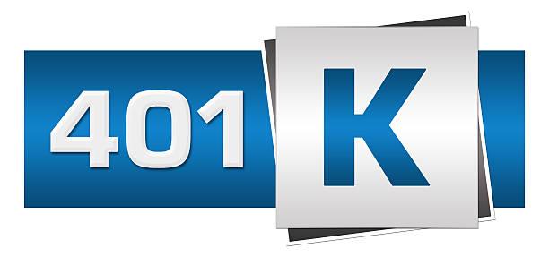 ruhestand investitionen 401 k blau grau horizontale - k projekt stock-fotos und bilder