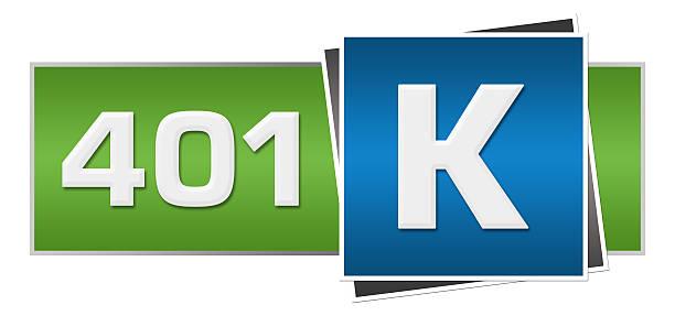 ruhestand investitionen 401 k grün und blau horizontal - k projekt stock-fotos und bilder