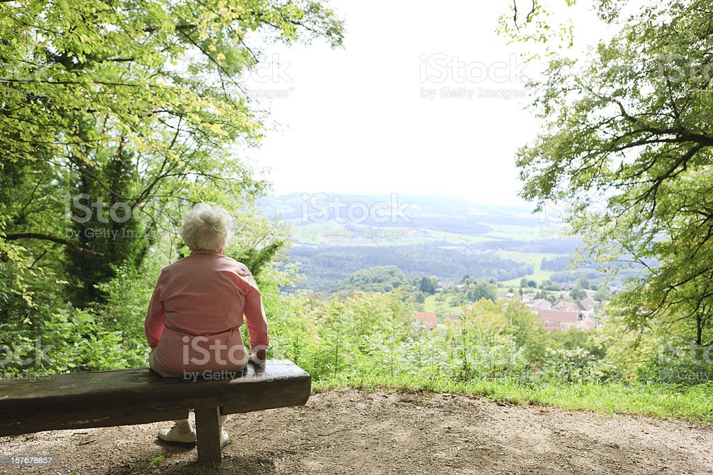 Retirement - lonely person stock photo