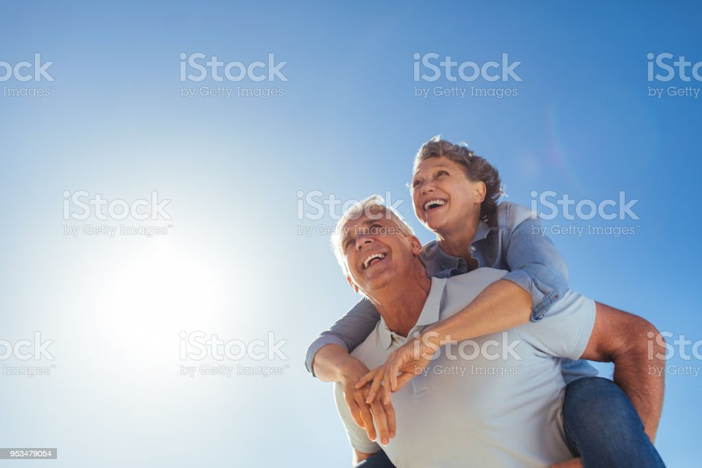Retirement means more time for fun stock photo
