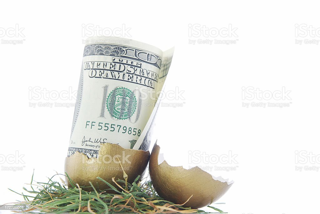 Retirement money royalty-free stock photo