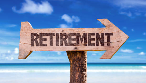 Retirement Retirement sign nest egg stock pictures, royalty-free photos & images