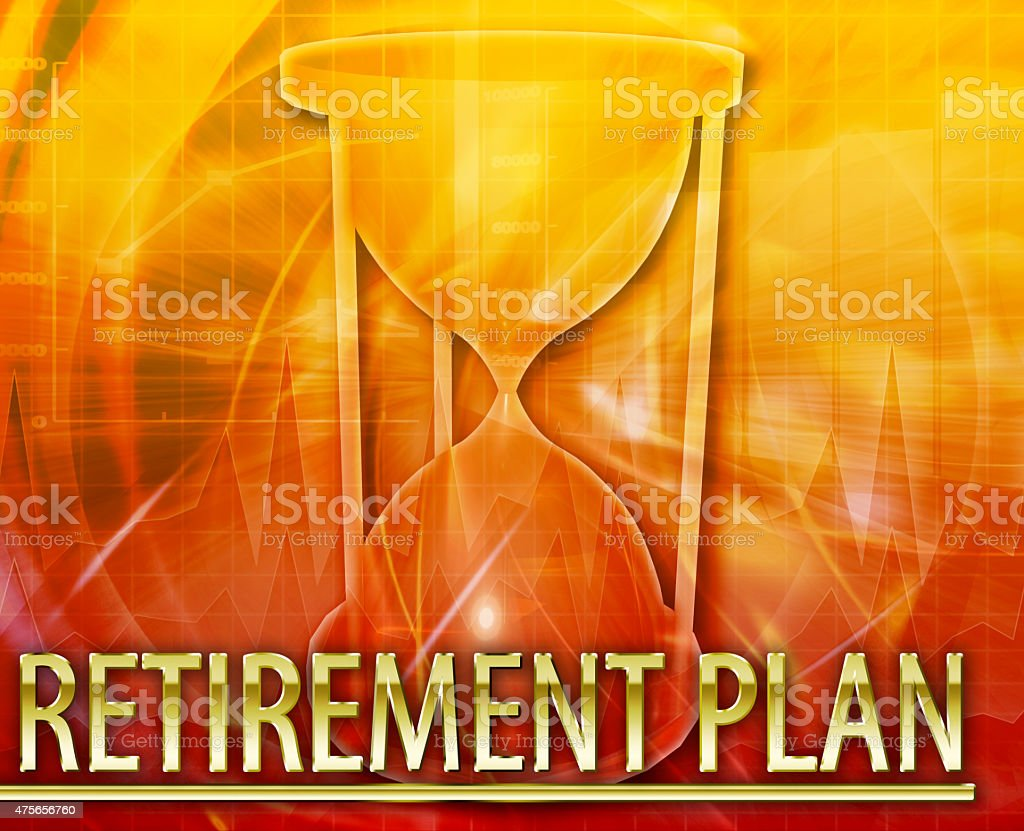 Retirement plan Abstract concept digital illustration stock photo