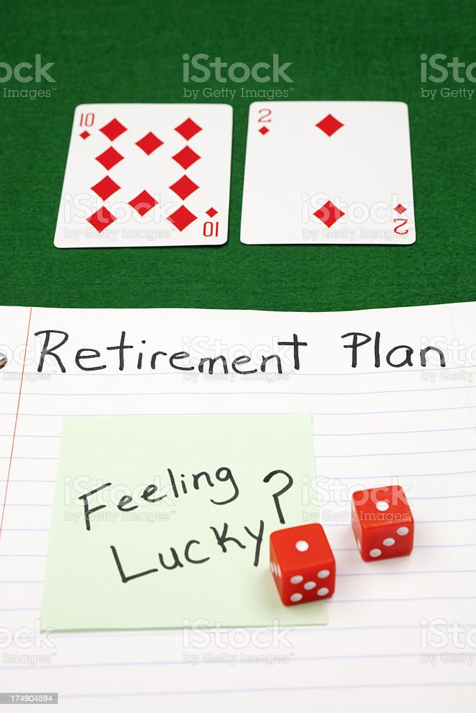 Retirement Plan, Chance, and Risk concept. royalty-free stock photo