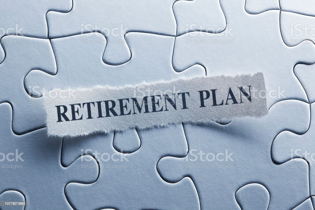 Retirement Plan stock photo