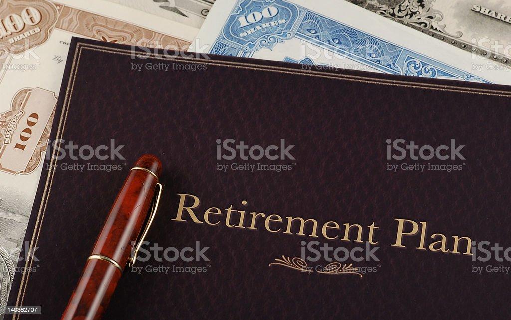 Retirement Plan royalty-free stock photo