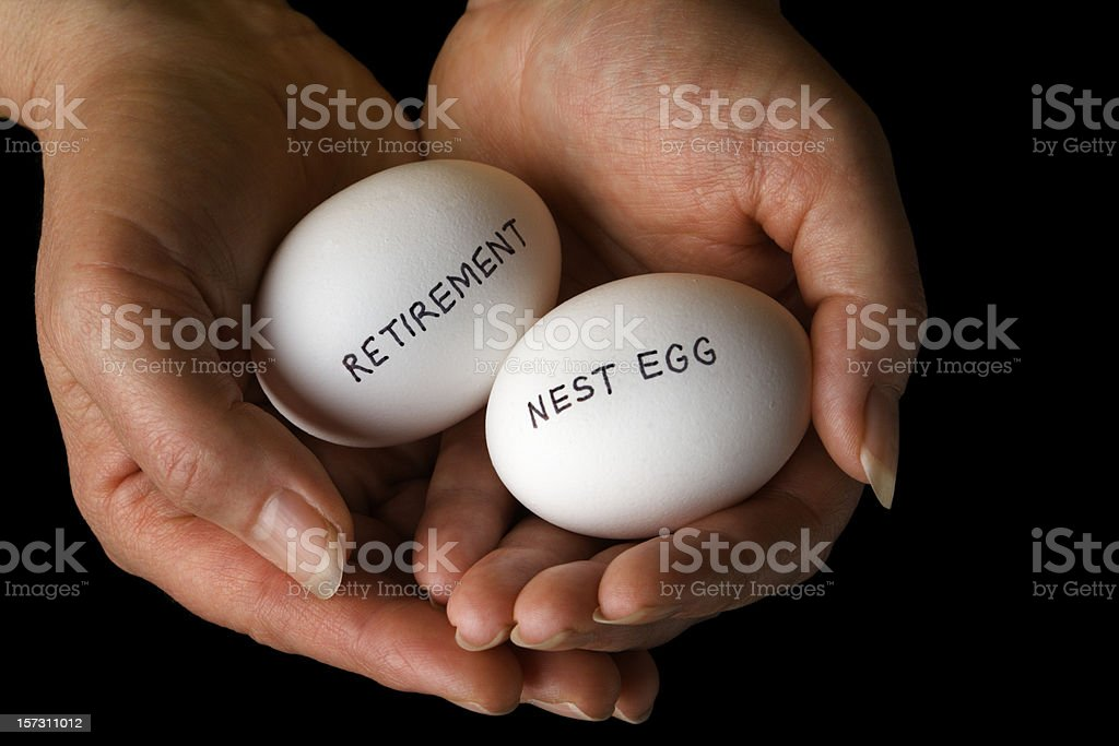 Retirement Planning Pension Nest Egg Personal Finance and Savings stock photo