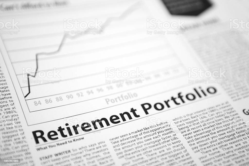 Retirement Portfolio stock photo