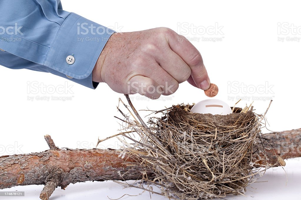 Retirement Savings Nest Egg royalty-free stock photo