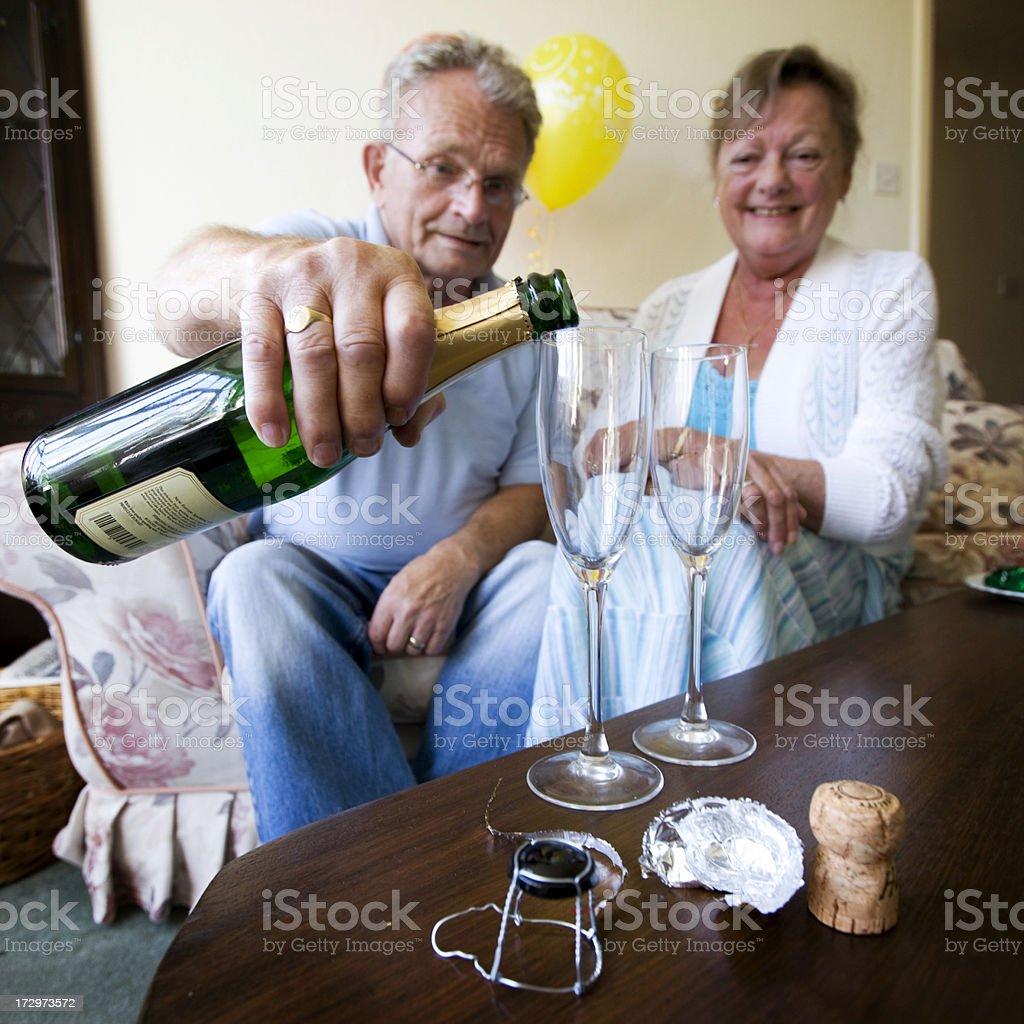 retirement: senior celebration royalty-free stock photo