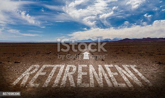 istock Retirement sign 837698396