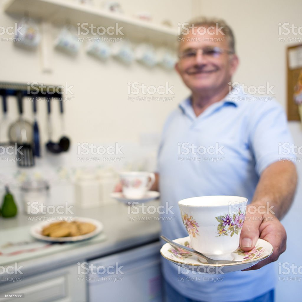 retirement: tea break royalty-free stock photo