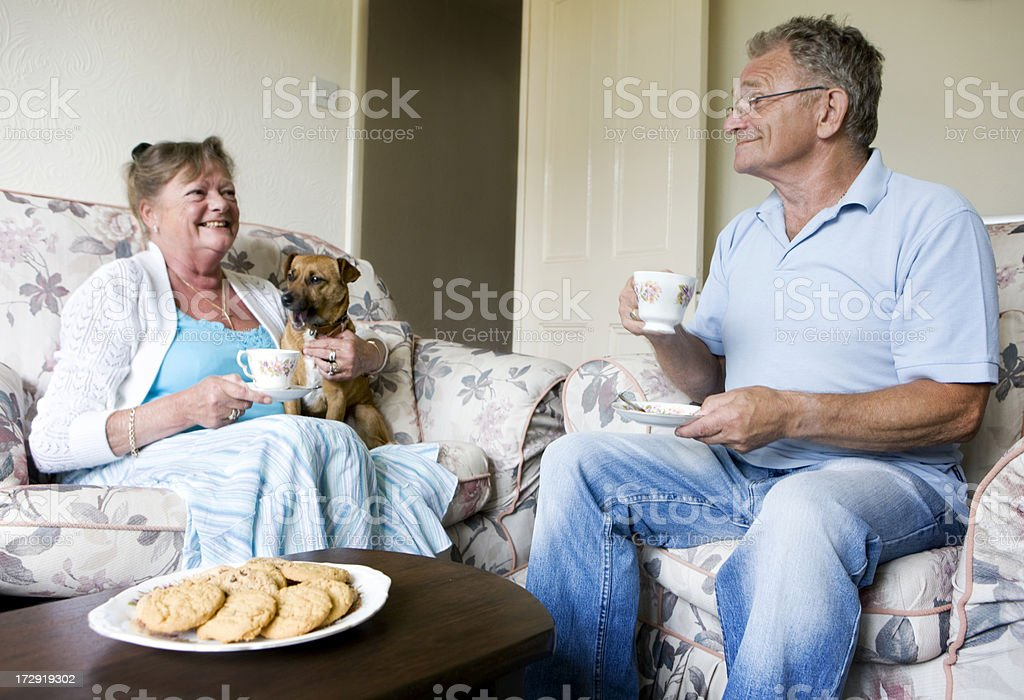 retirement: tea for two royalty-free stock photo