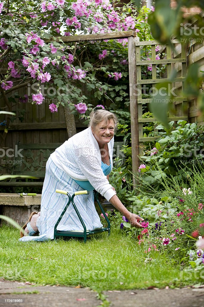 retirement: weeding the garden royalty-free stock photo