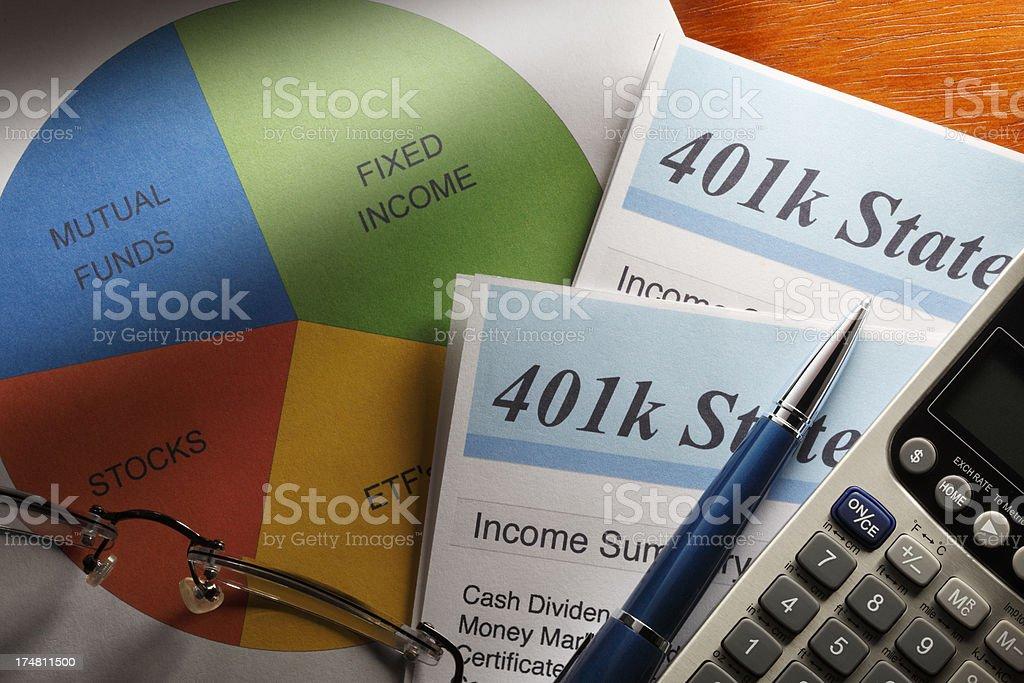 Retirerment Account Statement stock photo