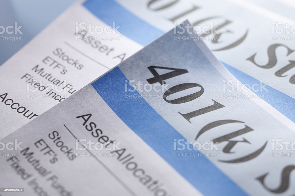 Retirerment Account Statements stock photo