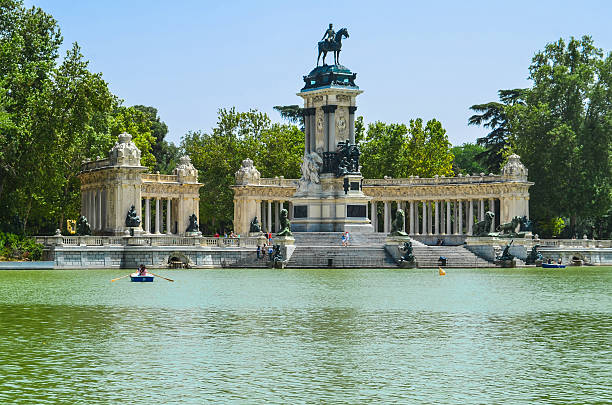 Parque del Retiro in Madrid stock photo