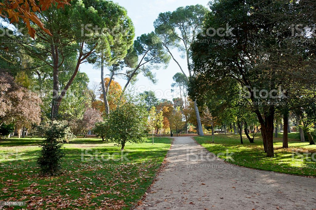 Retiro Park, Madrid stock photo