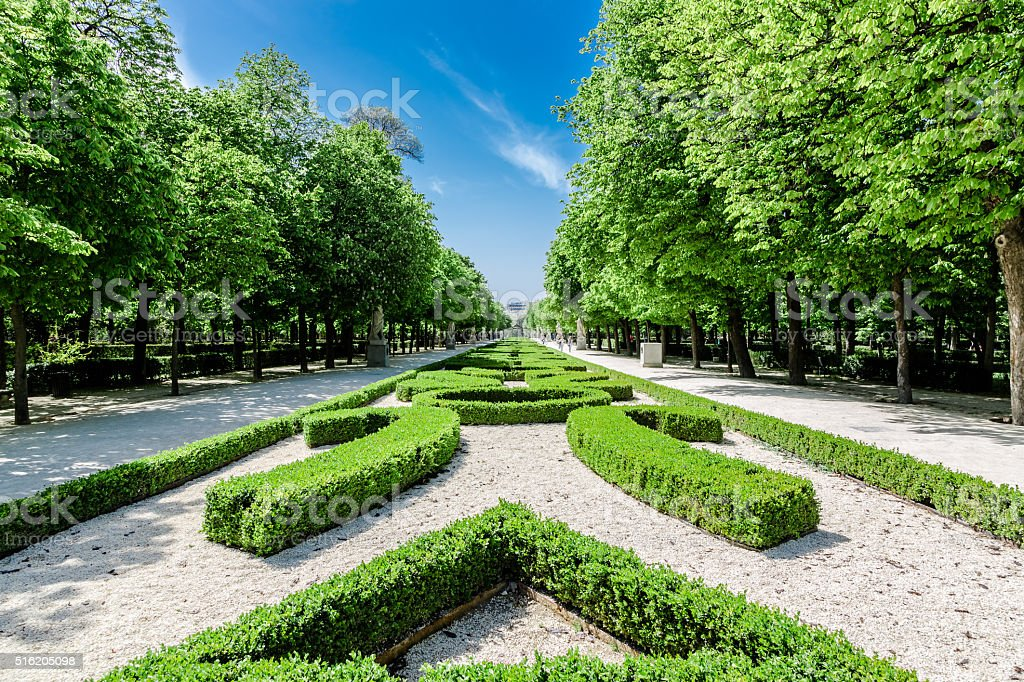 Retiro Park, Madrid, Spain stock photo