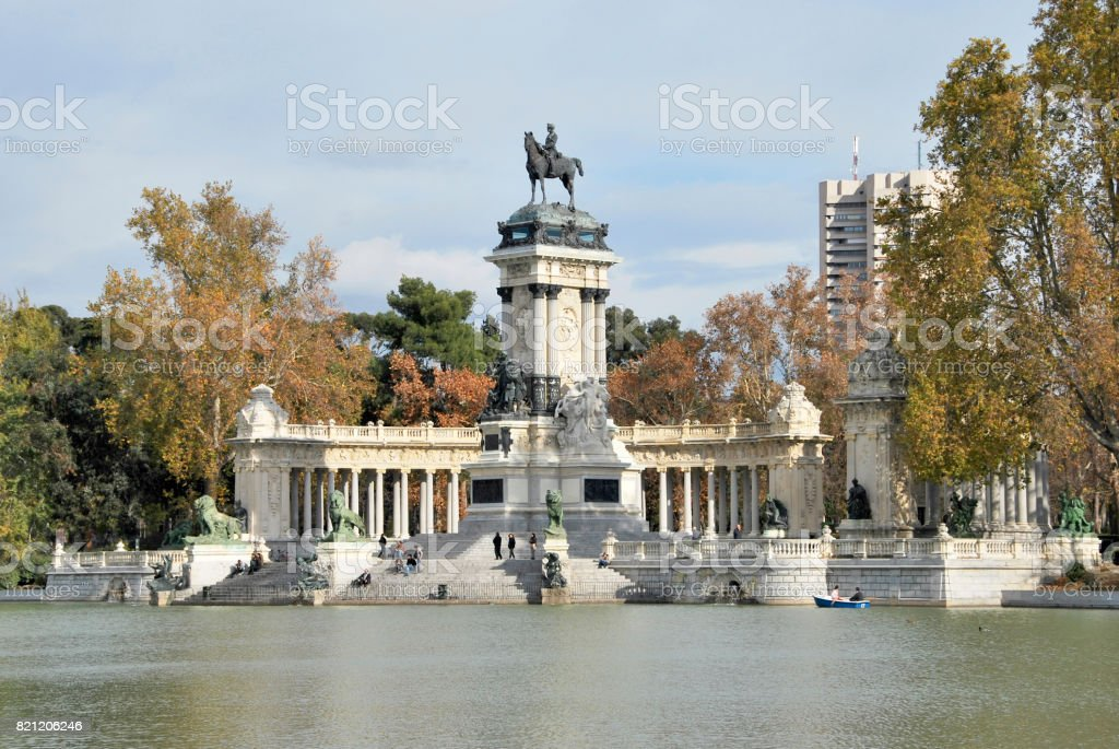 Retiro Park stock photo