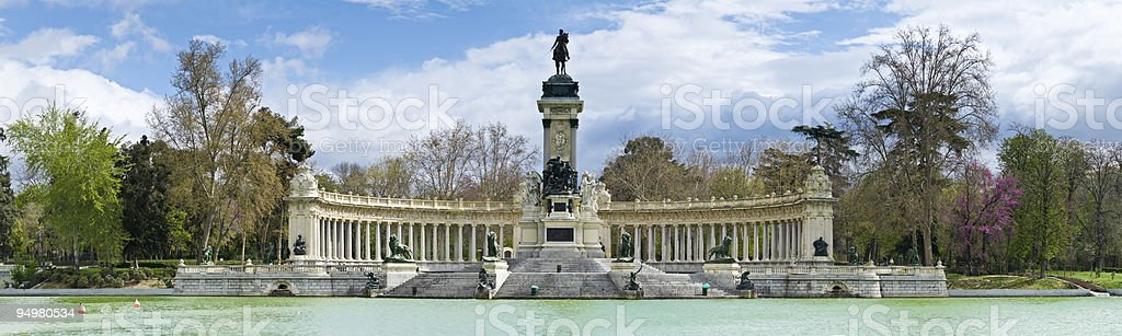 Retiro Madrid stock photo