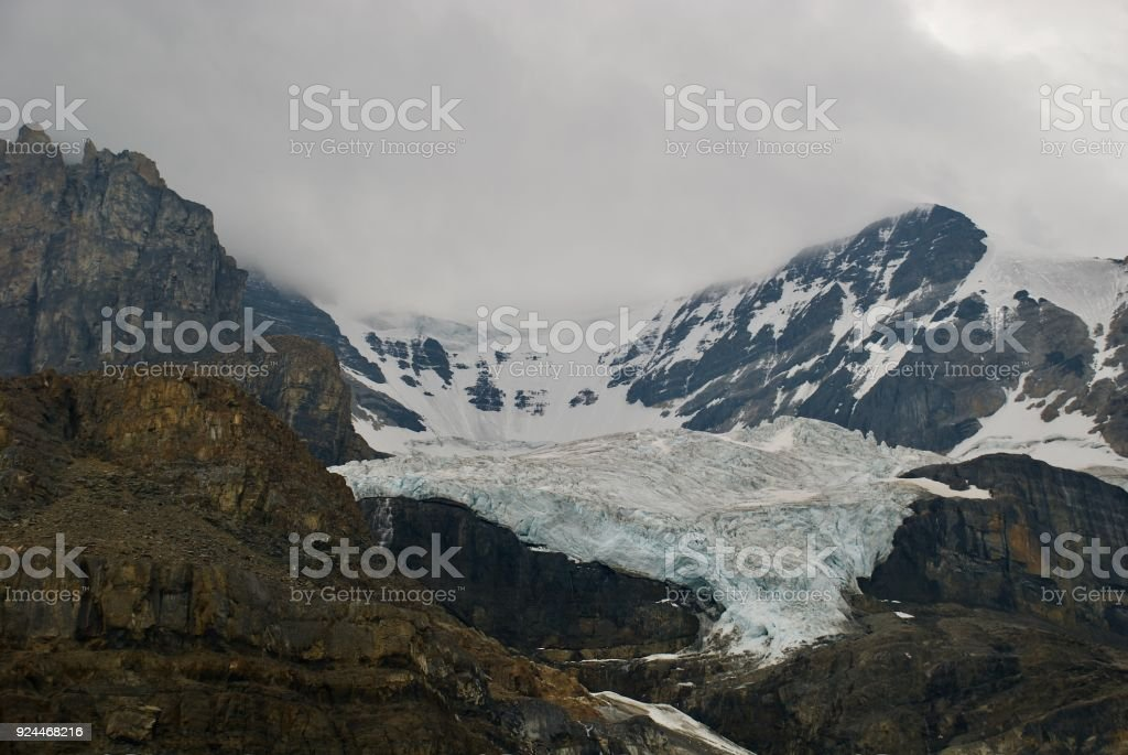 Retreating Glaciers Of Canada stock photo
