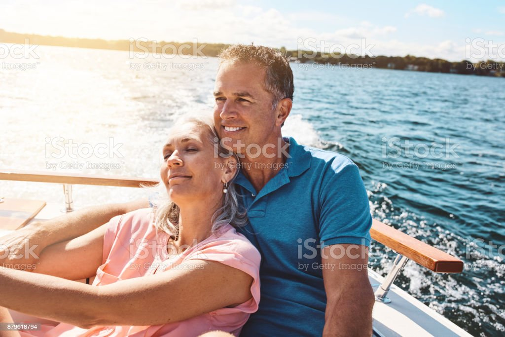 Retreating to the lake for a relaxing retirement stock photo