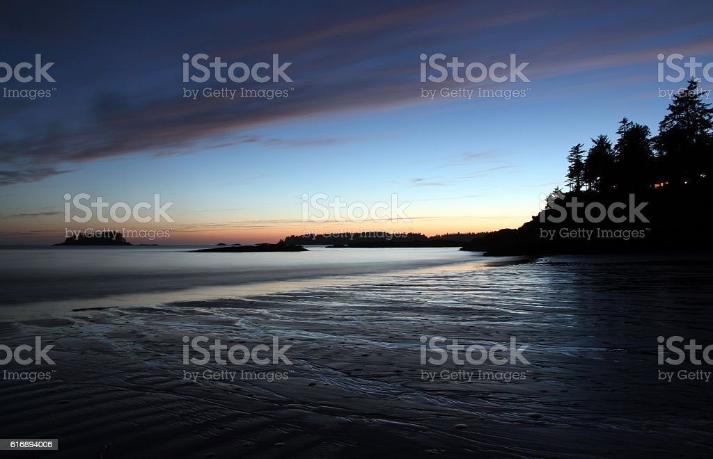 Retreating Tofino Sea stock photo